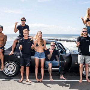 Classic restored Valiant & surfers