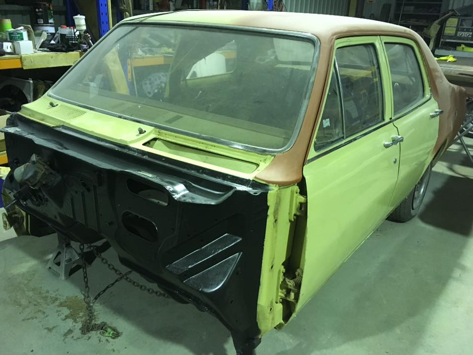 HT Holden sedan restoration work