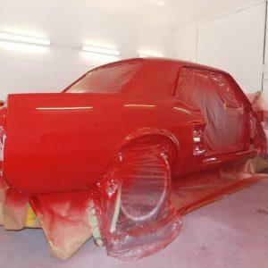 Mustang classic car restoration 4
