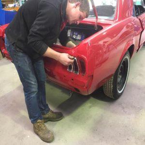 Mustang classic car restoration 7
