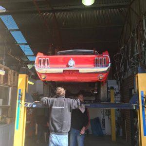 Mustang classic car restoration 8